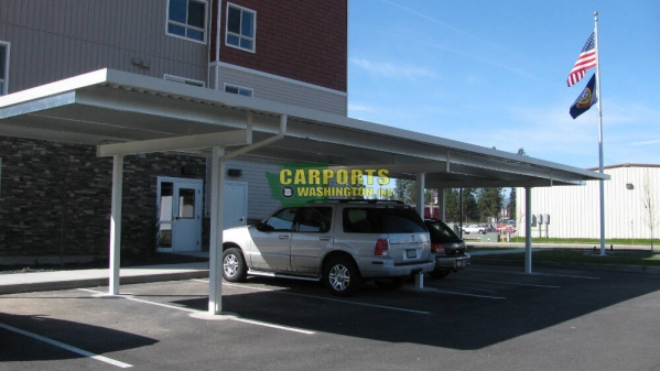 Economy Enclosed Carport : Portable carports washington state ft wide metal
